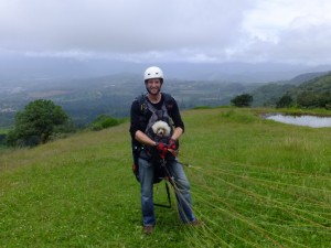 Paragliding in Turrialba