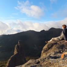 Aussicht über Berg und Tal